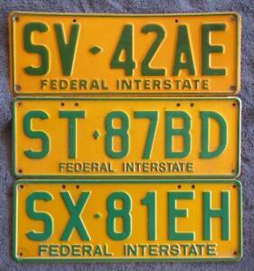 SA SET FED INTERSTATE LICENSE/NUMBER PLATES