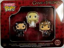 GAME OF THRONES 3 Vinyl Figuren - Funko Pocket Pop! Snow, Lannister, Targaryen