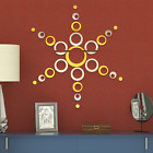 Acrylic Mirror Style Removable Decal Vinyl Art Wall Sticker Home Decor New