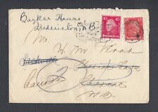 GERMANY 1920s TWO COVERS FRANKFURT & KARLSRUHE TO SACKVILLE NEW BRUNSWICK CANADA