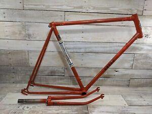 "1980s Concord Aztec Lugged Orange 23"" Frame-Fork Japan 27"" Wheels Fixie"
