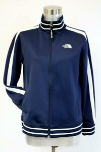 THE NORTH FACE Blue White A5 SERIES TRACK JACKET Striped Full Zip Womens SMALL