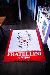 FRATELLINI CIRCUS 1980's 4x6 ft Shelter Original Music Concert Poster Art