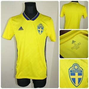 ADIDAS Men's size SMALL SVERIGE Jersey / T-shirt *Stains*