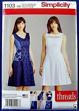 Simplicity Fit-Flare Drop-Waist Dress Sewing Pattern Misses 6,8,10,12,14 1103
