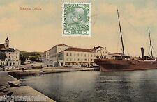 Sibenik AK um 1912 Oblala Hafen Schiff Kroatien 1606522