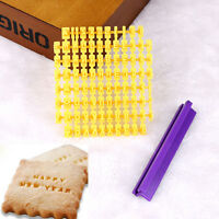 DIY Alphabet Letter Number Cookie Press Stamp Embosser Cutter Fondant Mould Cake