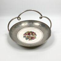 Vintage Triumph Farberware Etched Aluminum Tray Large Platter Limoges 22k Gold