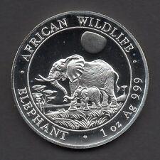 Feinsilber Anlagemünze Somalia 2011 Elefant 100 Shi. 1 oz 1 Unze Silber 999 UNC