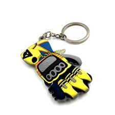 Motorcycle Bike Key Chain Key Ring Rubber Keychain Keyring Yamaha Rossi Gloves