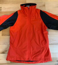 Nike Women's Storm Fit 8-10 M 2-in-1 Jacket Coat Red With Zip Out Black Liner
