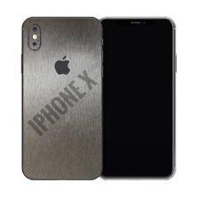 IPHONE X Schutzfolien Klebefolie Skin Carbon Wrap Case Alu Aufkleber Sticker