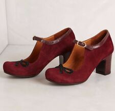 ANTHROPOLOGIE MICHI MARY JANES CHIE MIHARA SHOES BURGUNDY 38
