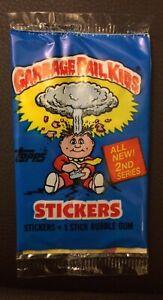 UK Garbage Pail Kids Series 2 (1985) RARE Sealed Sticker Pack ~ Vintage ~ Topps