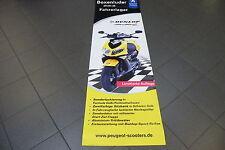 Peugeot Speedfight 2 Dunlop Wandplakat Wandaufhänger aus Kunsstoff zum Hängen