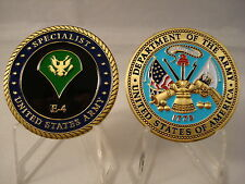 USA Army Specialist SPC E-4 Challenge Coin United States Junior Enlisted SP4