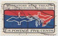 (USB219)1966 USA 5c 50th anni of migratory birdow1286