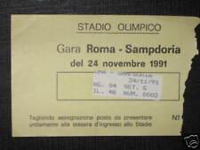ROMA - SAMPDORIA TICKET BIGLIETTO 1991/92 SERIE A