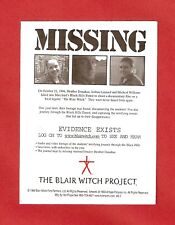 BLAIR WITCH PROJECT MISSING Photo Logo Movi NEW Sticker