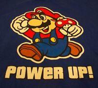 Nintendo SUPER MARIO BROS. Power Up T-Shirt LARGE