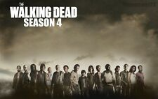 """The Walking Dead 1 2 3 4  TV Zombie Fabric poster21"""" x 13"""" Decor 76"""