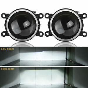 2x 3in Fog Lens Projector Light Lamp For SUBARU DACIA MITSUBISHI RENAULT NISSAN