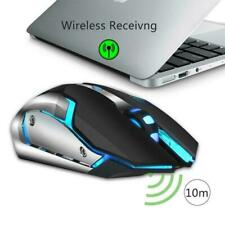 2400DPI 6 Button LED Wireless Rechargeable Optical Gaming Mouse for Pro Gamer PC