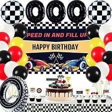 Racing Car Birthday Party Supplies Decorations for Boys Kids Birthday Party