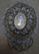 alte Glas Perlen Klosterarbeit Kruzifix unter Glaskuppel