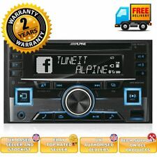 Alpine CDE-W296BT Double Din Car CD MP3 Stereo Bluetooth Aux In USB iPod iPhone