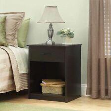 Set of 2 Nightstand Modern Side Table Pair Bedside Bedroom Furniture Drawer NEW