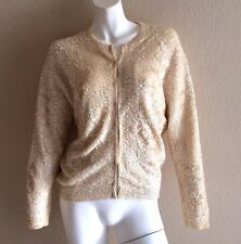 Vintage 50's 60's Gene Shelly's Maru Sequin Jacket Cardigan Angora Wool 44 L XL