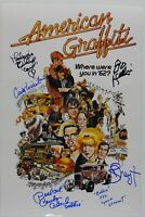 American Graffiti Cast JSA Signed Autograph JSA COA photo 12 x 18 Dreyfuss