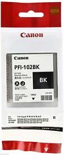 Canon PFI-102BK Ink Tank  Genuine Black Cartridges 0895B001AA for IPF 500 655