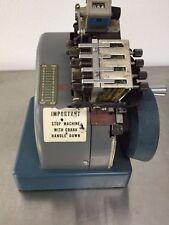 Rare! Vintage Dennison Model 400 Rapid Set Label Imprinter S/N 4745 *Untested*