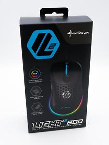GAMING MAUS LIGHT² 200 IN SCHWARZ * SHARKOON * NEU * USB * OPTISCH * 6 TASTEN