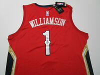 ZION WILLIAMSON / AUTOGRAPHED NEW ORLEANS PELICANS RED PRO STYLE JERSEY / COA