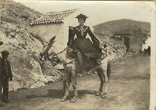 PHOTO ANCIENNE - VINTAGE SNAPSHOT - CHUSSEAU FLAVIENS FEMME MODE CHEVAL - HORSE