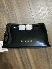 Ted Baker London Black With Pink Bow Cosmetic Make Up Case