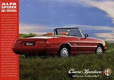Prospekt Alfa Romeo Spider 1993 1 Blatt brochure Autoprospekt Auto PKWs broschyr
