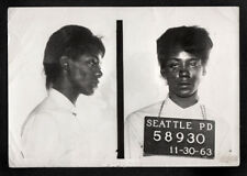 BARELY CONSCIOUS BLACK WOMAN CRIMINAL ~ 1963 SEATTLE POLICE MUG SHOT PHOTO!