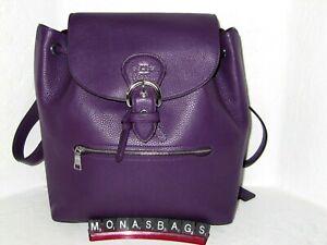Coach C5648 Kleo Backpack Dark Amethyst Purple Pebble Leather NWT $428