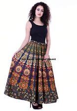 Indian Women Rapron Peacock Mandala Printed Cotton Long Skirt Wrap Around Skirt