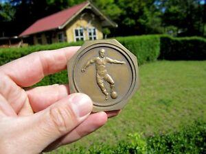 wunderschöne alte Fußball Medaille Bronze Brüssel Bruxelles 1936 Sammlerstück