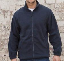 BIG Mens Navy blue zip fleece sweatshirt top Size XXXL 3XL workwear work RX400