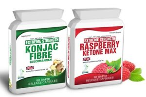 90 Raspberry Ketone 90 Glucomannan Konjac Fibre Free Diet Weight Loss Tips