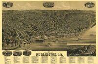 Burlington Iowa - Wellge 1889 - 23.00 x 34.83