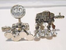 STAR WARS AT-AT Walker (All Terrain) SILVERTONE/ENAMEL CUFFLINKS