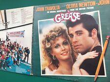 GREASE Soundtrack 2-LP Frankie Valli John Travolta Olivia Newton-John Sha-Na-Na
