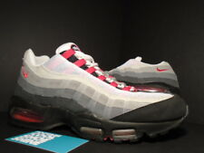 2005 Nike Air Max 95 BLACK VARSITY RED COOL GREY WHITE CHILI 609048-062 Sz 10